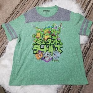 Other - Nickelodeon TMNT Green & Gray Graphic T-shirt
